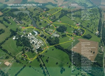 Cross Country course map for The Land Rover Burghley Horse Trials