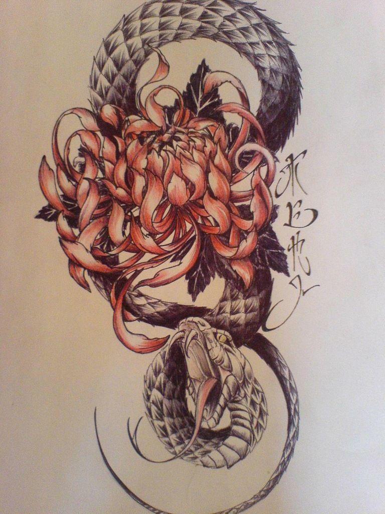 змея эскиз татуировки фото в салоне Tattoo Times