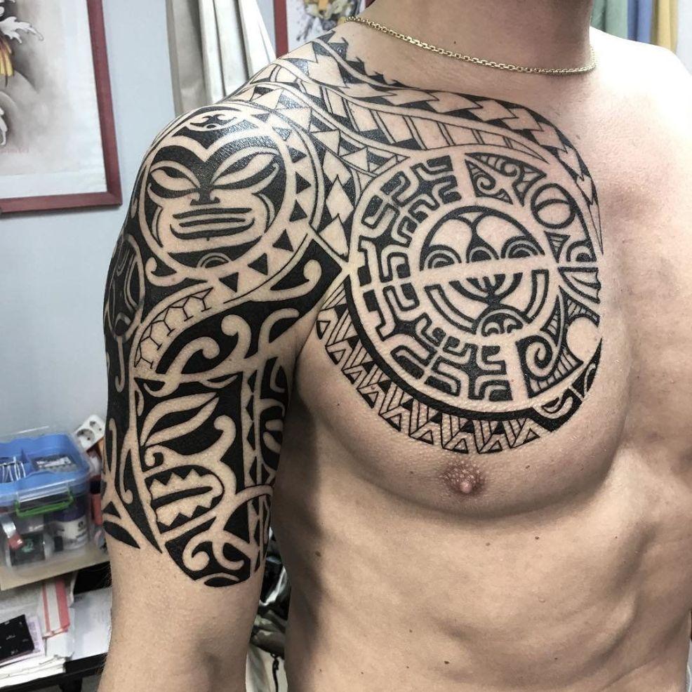 тату в стиле полинезия идеи эскизы и фото узоров для мужчин и девушек