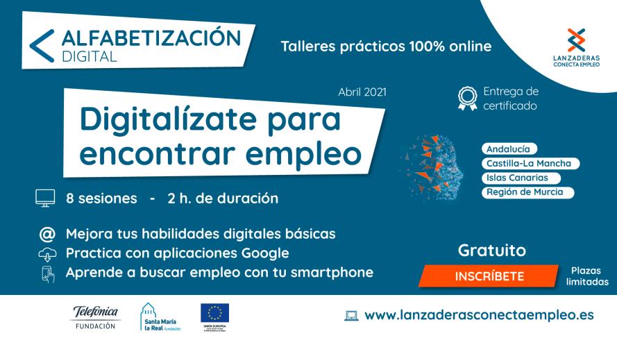 """Talleres gratuitos """"Digitalizate para encontrar empleo"""""""