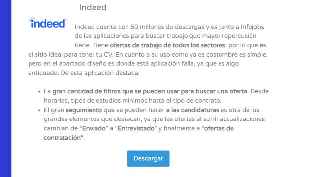 Indeed - Las 11 mejores Aplicaciones para Buscar Empleo