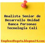 Analista Senior de Desarrollo Unidad Banca Personas Tecnología Cali