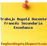 Trabajo Bogotá Docente Francés Secundaria Enseñanza
