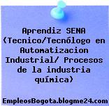 Aprendiz SENA (Tecnico/Tecnólogo en Automatizacion Industrial/ Procesos de la industria química)