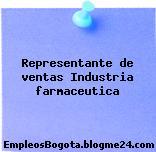 Representante de ventas Industria farmaceutica
