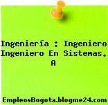 Ingeniería : Ingeniero Ingeniero En Sistemas. A