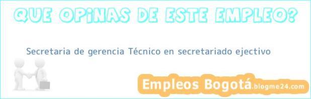 Secretaria de gerencia Técnico en secretariado ejectivo