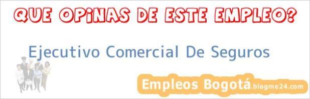 Ejecutivo Comercial De Seguros