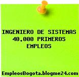 INGENIERO DE SISTEMAS 40.000 PRIMEROS EMPLEOS