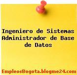 Ingeniero de Sistemas Administrador de Base de Datos