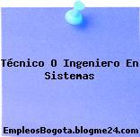 Técnico O Ingeniero En Sistemas