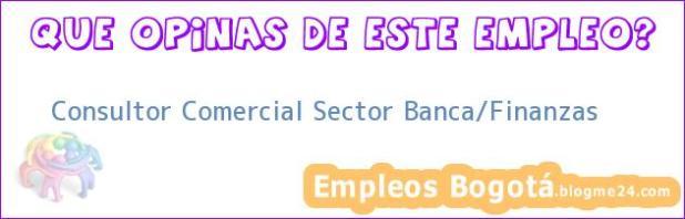 Consultor Comercial Sector Banca/Finanzas
