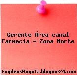 Gerente Área canal Farmacia – Zona Norte