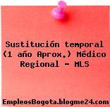 Sustitución temporal (1 año Aprox.) Médico Regional – MLS