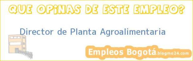Director de Planta Agroalimentaria