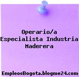 Operario/a Especialista Industria Maderera