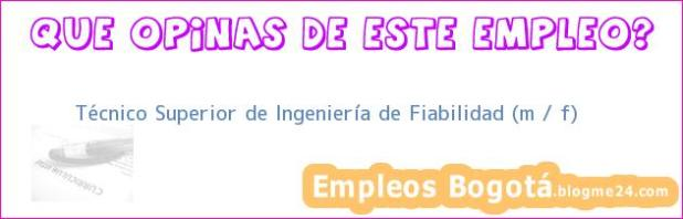 Técnico Superior de Ingeniería de Fiabilidad (m / f)