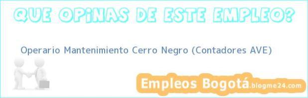 Operario Mantenimiento Cerro Negro (Contadores AVE)
