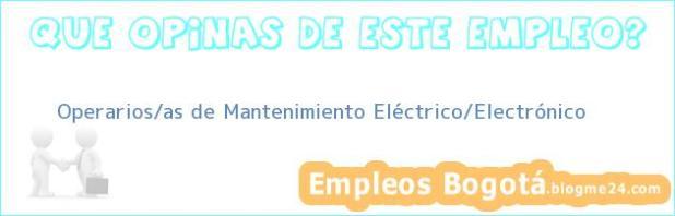Operarios/as de Mantenimiento Eléctrico/Electrónico