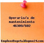 Operario/a de mantenimiento 46309/602