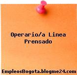 Operario/a Linea Prensado