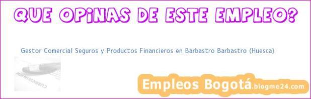 Gestor Comercial Seguros y Productos Financieros en Barbastro Barbastro (Huesca)