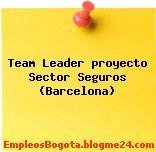 Team Leader proyecto Sector Seguros (Barcelona)