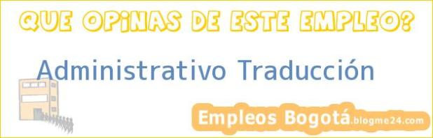 Administrativo Traducción