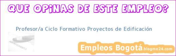 Profesor/a Ciclo Formativo Proyectos de Edificación