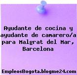 Ayudante de cocina y ayudante de camarero/a para Malgrat del Mar, Barcelona