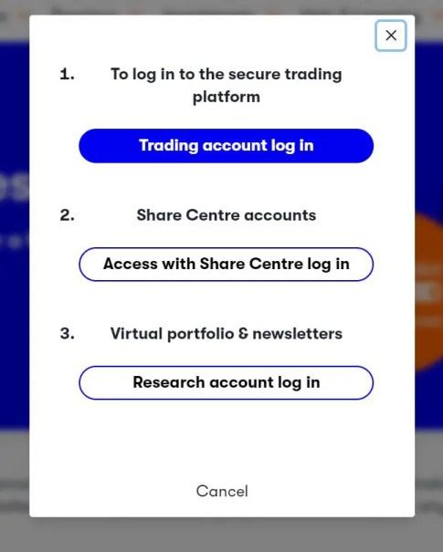 interactive investor login portal