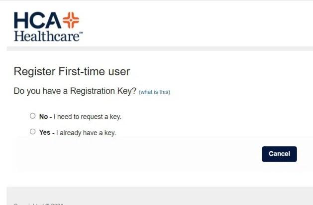 HCA Rewards Account Registration Process