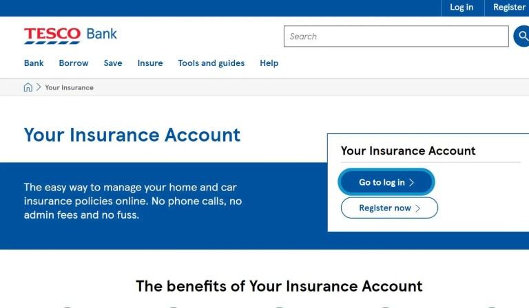 Tesco Insurance Portal
