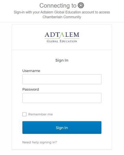 Chamberlain University Student Portal Login
