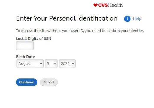 Myhr CVS Login Password Reset Steps