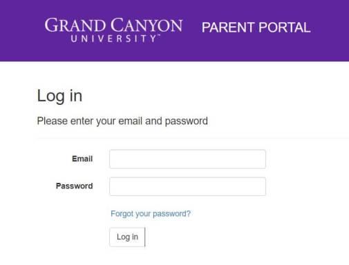 GCU Parent Portal Login