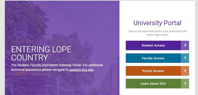 GCU Parent Portal