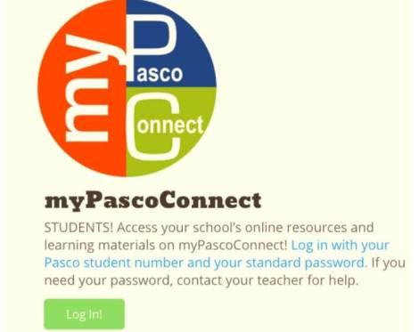 My Pasco Connect Portal