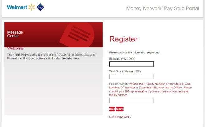 Walmartone Associate Paystub Portal Account Registration