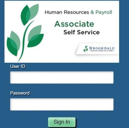 Brookdale Associate Self-Service Login Portal