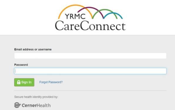 YRMC Patient Portal Login