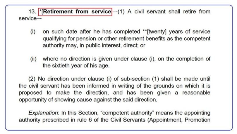 Federal Govt Employees Retirement Rules 2021