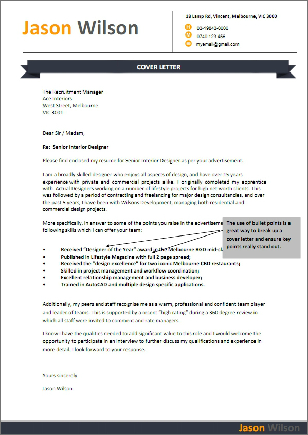 Resume Cover Letter Samples For It Professionals | Resume Format