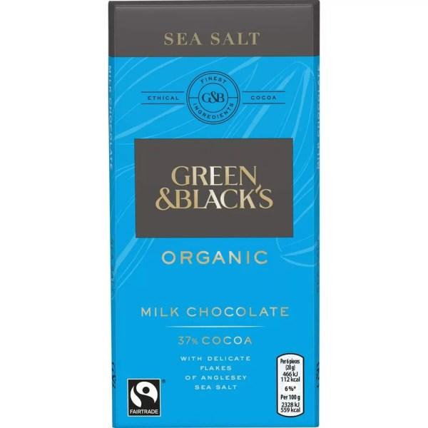 Chocolate Orgánico Green & Black's Sea Salt - Tienda Gourmet Emporio LaMarta