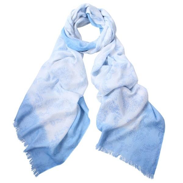 Tess foil print scarf