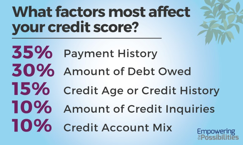 Credit Impact factors by Percentage_Empowering the Possibilities