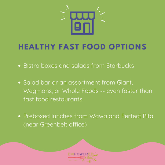 Dietitian Dana's Fast Food Favs!