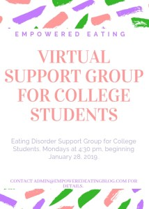 College Support Group- Virtual