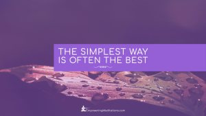 Blog - The simplest way is often the best - Page
