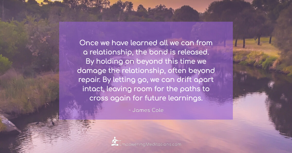 Meme - Once we have learned all we can from a relationship - Page